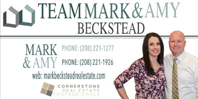 Mark and Amy Beckstead at Cornerstone Realty in Preston Idaho