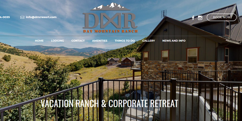 Day Mountain Ranch Resort lodging in idaho
