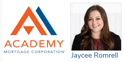 Academy Mortgage Jaycee Romrell Loan Officer Assistant